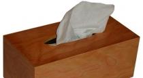 cherry veneer tissue box