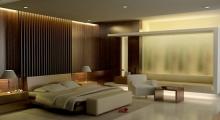 Walnut Veneer Bedroom Interior