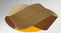 cherry veneer nut pendant lamp