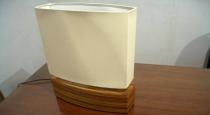 zebrawood veneer table lamp